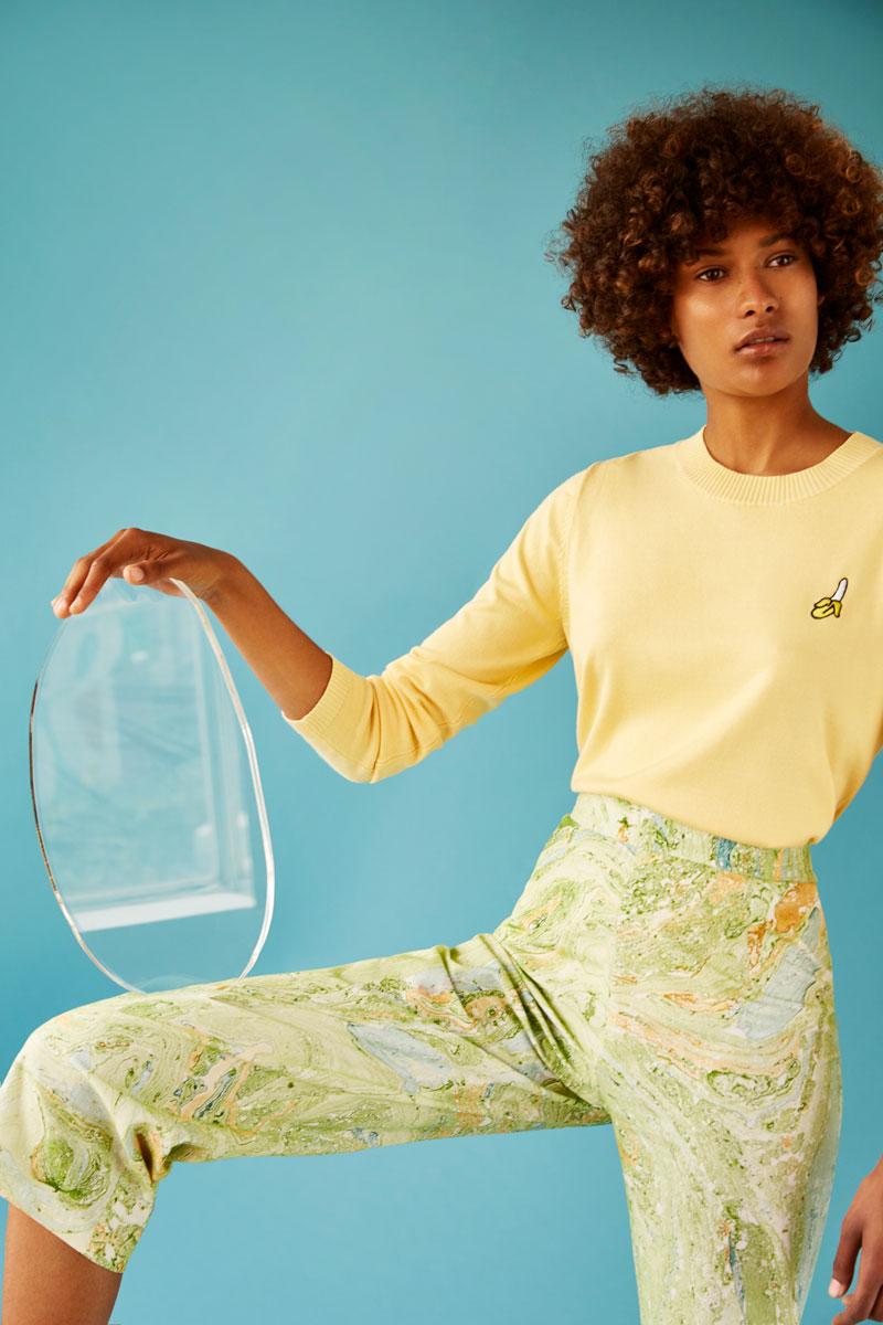 Jersey amarillo parche platano